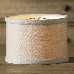 Ballard Designs - Linen Drum Chandelier Shade - This mini drum chandelier shade is handfinished in linen. Crisp, drum-shaped chandelier shade with a modern and sophisticated look. Shop our selection of chandeliers.