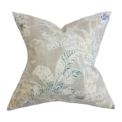 The Pillow Collection - Satriya Floral Pillow Royal Blue - This floral throw pillow is a must-have accessory in every homes. Infused with a captivating detail and a soft color palette, this accent pillow lends a rich look to your interiors. The floral detail comes in an array of muted hues like gray, blue and white. This decor pillow is made with plush materials: 55% linen and 45% rayon. Hidden zipper closure for easy cover removal.  Knife edge finish on all four sides.  Reversible pillow with the same fabric on the back side.  Spot cleaning suggested.