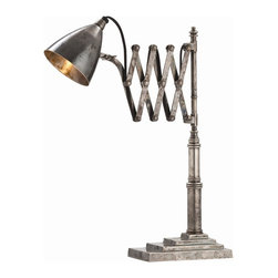 Arteriors - Arteriors 46365 Fraiser Desk Lamp - Arteriors 46365 Fraiser Desk Lamp made with Vintage Silver.
