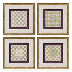 Paragon Art - Paragon Fleur de Tiles ,Set of 4 - Artwork - Fleur de Tiles ,Set of 4       ,  Paragon Artist is Lam , Paragon has some of the finest designers in the home accessory industry. From industry veterans with an intimate knowledge of design, to new talent with an eye for the cutting edge, Paragon is poised to elevate wall decor to a new level of style.