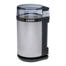 2.0 - Krups GX4100 Electric Coffee and Spice Grinder - -Minces fresh herbs and dried spices and grinds coffee beans from coarse to fine in seconds