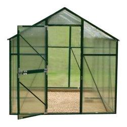 "EarthCare Greenhouses - Nature's Premium Greenhouses, 6' 10"" X 4' 9"" X 7' - Eaves height 5 foot 1½ inch."