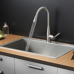 Ruvati - Ruvati RVC2390 Stainless Steel Kitchen Sink and Stainless Steel Faucet Set - Ruvati sink and faucet combos are designed with you in mind. We have packaged one of our premium 16 gauge stainless steel sinks with one of our luxury faucets to give you the perfect combination of form and function.