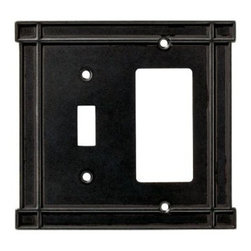 Liberty Hardware - Liberty Hardware 144074 Arts & Crafts WP Collection 5.16 Inch Switch Plate - A simple change can make a huge impact on the look and feel of any room. Change out your old wall plates and give any room a brand new feel. Experience the look of a quality Liberty Hardware wall plate. Width - 5.16 Inch, Height - 4.88 Inch, Projection - 0.24 Inch, Finish - Soft Iron, Weight - 0.55 Lbs.