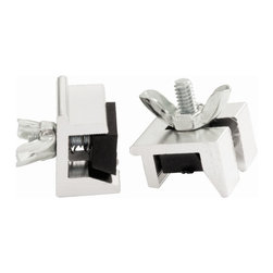 First Watch Security - Window Slide Stop - 2 Pack in Aluminum (Set of 10) - Extruded aluminum with no-mar vinyl inserts to protect track. Locks window in closed or vented position. Fits wide and narrow type tracks. For use on sliding windows. Aluminum Finish