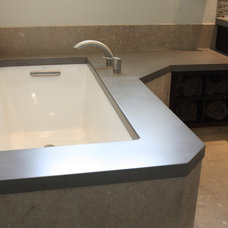 Contemporary Vanity Tops And Side Splashes by Russel B. Peterson Home Builder Inc.