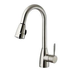 Vigo - Vigo Pull-Out Spray Kitchen Faucet, Stainless Steel (VG02014ST) - Vigo VG02014ST Pull-Out Spray Kitchen Faucet, Stainless Steel