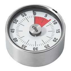 Frieling - Gauge Kitchen Timer - This clever-looking kitchen timer is reminiscent of a vehicular- or industrial-inspired gauge. An easy-to-read display allows you to stay in the driver's seat when cooking or baking.