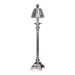 Carolyn Kinder - Carolyn Kinder Kalena Transitional Buffet Lamp X-1-54892 - This buffet lamp features silver plated metal with glass and crystal details and crystal shade.