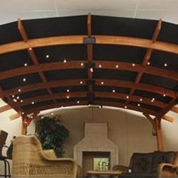Outdoor Greatroom Company Sonoma Pergola Shade Cover - Designed for use with the Sonoma Arched Wood Pergola, this canvas shade cover installs easily to your pergola with screw and snap attachments