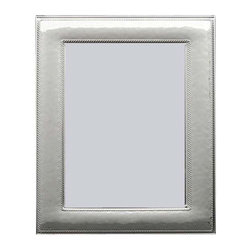"Silverstar International - 8""x10"" Niche Silver Sterling Picture Frame - Niche sterling silver photo frame is a simply gorgeous 10th wedding anniversary photo frame with a lightly hammered face featuring two beaded bands on the inner and outer border. The Silverstar International bi-laminated 925 Sterling Silver picture frame is meticulously manufactured to an aluminum base for strength. Every Silverstar picture frame is designed with a tarnish resistant surface for easy cleaning and glare resistant glass. It is the perfect traditional wedding, anniversary, or birthday gift."
