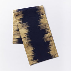 Enchanted Ikat Table Runner - I love this navy and gold runner. It's super chic and perfect for the upcoming holiday season.