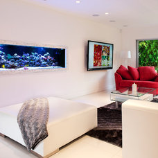 Contemporary Living Room by Oceans Aquarium Inc