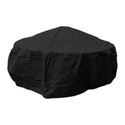 None - Backyard Basics Eco-Cover Large Firepit Cover - This fire pit cover has a water resistant exterior layer and soft lining helps strengthen and protect. Fits most round fire pits,protecting them from the elements.