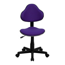 Flash Furniture - Flash Furniture Modern Ergonomic Task Chair in Purple - Flash Furniture - Office Chairs - BT699PURPLEGG - This attractive task chair features a contoured shaped seat and back with chrome metal band accent. Whether for the kids or for your home office this chair will be a perfect addition. This chair will be a welcome and personal addition for any home office or home study area. [BT-699-PURPLE-GG]