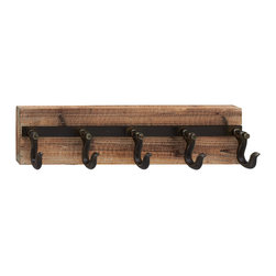 Classic Styled Wood Metal Wall Hook - Description: