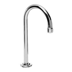 """American Standard - American Standard 7522.155.002 Gooseneck Spout, Chrome - This American Standard 7522.155.002 Gooseneck Spout is part of the Additional Accessories collection, and comes in a beautiful Chrome finish. This gooseneck spout features a 3/8"""" connection, a 12"""" height, a 5-9/16"""" reach, a coupling nut for a 1/4"""" tailpiece, and a max installation thickness of 1-9/16""""."""