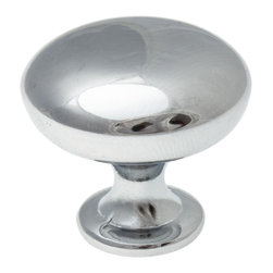 """GlideRite Hardware - GlideRite 1-5/32"""" Round Cabinet Knob Polished Chrome - Add a timeless look to your cabinets with this round polished chrome knob.  Each knob is individually packaged to prevent damage to the finish and a standard installation screw is included."""