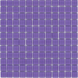"Crayola - Decorative Glass Mosaics Lilac 12"" x 12"" - This collection is 's translation of all the vibrancy and happiness of the world now available in 18 blends and 42 solid colors. The 1'x1' glass mosaic sheets can be used for indoor and outdoor applications."