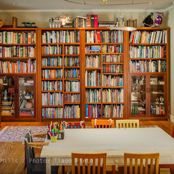 Children room bookcase - This large bookcase made of Mahogany was designed to match the library it was to hold.