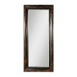 Uttermost - Uttermost Wilton Floor Mirror - Wilton Floor mirror by Uttermost.  Frame is made of solid mango wood and hand finished in an antique black.