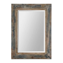 Uttermost - Uttermost Bozeman Distressed Blue Mirror - 13829 - Uttermost's mirrors combine premium quality materials with unique high-style design.