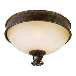 YOSEMITE HOME DECOR - 3 Lights Flush Mount in Bronze Patina - - 15.25 in. Flush Mount