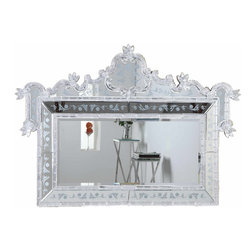 "PWG Lighting / Lighting By Pecaso - Zabrina Crystal Vanity Fixture MR-6299S - Mirror 58""x2.8""x39""H SL"