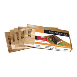 SCS Direct - Grilling Plank - Set of Four - These all-natural wood planks are perfect for infusing a deliciously smoky flavor into meat, fish, poultry and more.   Includes four planks 12'' W x 0.3'' H x 6'' D Kiln dried wood Imported