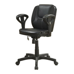 Serta by True Innovations - Serta Task Chair in Puresoft Black Faux Leather with Mesh - Serta by True Innovations - Office Chairs - 43671 - About This Product: