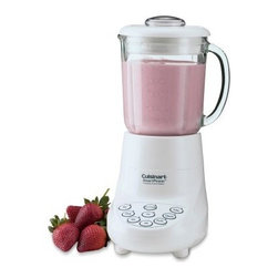 Cuisinart SPB-7 SmartPower 7 Speed Electronic Blender - This powerful versatile Cuisinart SPB-7 SmartPower 7 Speed Electronic Blender blends purees chops mixes and liquefies at the touch of a button. And its 7-speed motor is so powerful it crushes ice instantly. With touchpad controls and indicator lights this easy-wipe plastic blender has dishwasher safe parts including a 40 oz. glass jar with a dripless-pour spout and a 2 oz. removable measured-pour lid.Limited 3-year warrantyDimensions: 6.88L x 8W x 15H inchesAbout CuisinartOne of the most recognized names in cookware and kitchen products Cuisinart first became popular when introduced to the public by culinary experts Julia Child and James Beard. In 1973 the Cuisinart food processor revolutionized the way we create fine food and healthy dishes and since that time Cuisinart has continued its path of innovation. Under management by the Conair Corporation since 1989 Cuisinart is a universally celebrated name in kitchens across the globe. With a full-service product line including bakeware blenders coffeemakers cookware countertop appliances kitchen tools and much much more Cuisinart products are preferred by chefs and loved by consumers for durability ease of use superior quality and style.