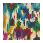Jewel Tone Dappled Watercolor Linen Fabric - Super hot abstract watercolor linen in multicolor jewel tones.  A modern masterpiece for the artist at heart.Recover your chair. Upholster a wall. Create a framed piece of art. Sew your own home accent. Whatever your decorating project, Loom's gorgeous, designer fabrics by the yard are up to the challenge!