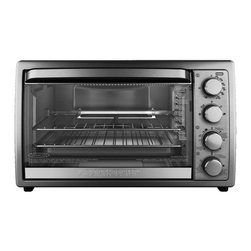 Black And decker - Black and Decker 9-slice Rotisserie Convection Oven - Have your morning toast or quickly cook a piece with this Black and Decker rotisserie convection oven. With a removable rotisserie rack, two toasting trays and a bake pan, the cooking options are endless with this compact machine.