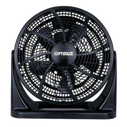 Optimus - High Performance Turbo Air Circulation Fan - If you can't take the heat, you no longer have to leave the kitchen, or any room for that matter. This powerful fan has a three-speed motor and a wall-mount option to ensure cooling power in even the hottest of circumstances. The variable-tilt head allows for even the spiciest of circumstances to chill.
