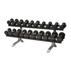 TKO 10 Pair Pro Dumbbell Rack with Saddles