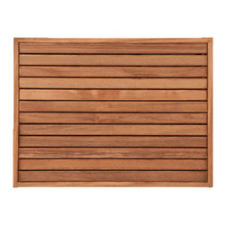 TEAKWORKS4U - Teakworks4u Bath Mat With Narrow Frame, Plantation Teak - Teakworks4u Bath Mat With Narrow Frame is ideal for indoor or outdoor use. It is mold and mildew proof due to its high oil content. Naturally high silica content makes this piece incredibly slip resistant.