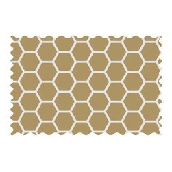 SheetWorld - SheetWorld Khaki Honeycomb Fabric - by The Yard - 100% cotton woven fabric. Approx. 280 thread count. Features a khaki honeycomb print.