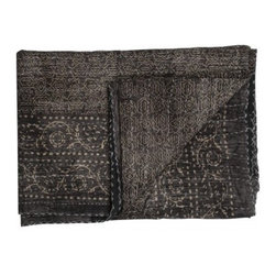 Sepia Throw, Moroccan - I always keep a light throw handy so I can enjoy chilly days outside.