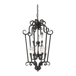 Trans Globe Lighting - Trans Globe Lighting 70290-1 Iron Scroll Transitional Foyer Light - Trans Globe Lighting 70290-1 Iron Scroll Transitional Foyer Light