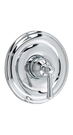 American Standard - Portsmouth Shower Faucet with Round Escutcheon in Polished Chrome - American Standard T420.500.002 Portsmouth Shower Faucet with Round Escutcheon in Polished Chrome.