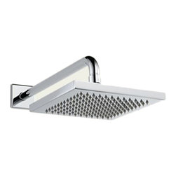 Delta - Delta 57740 Delta Single Setting Raincan Showerhead (Chrome) - Delta 57740 Arzo Collection has a bold angular shape and for a comtemporary addition to your home. The Delta 57740 is a Touch-Clean Raincan Showerhead in Chrome.