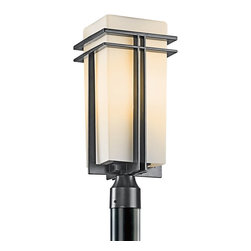 BUILDER - KICHLER 49207BKFL Tremillo Soft Contemporary/Casual Lifestyle Fluorescent Outdoo - The Tremillo™ Collection from Kichler. Outdoor lighting with a Black finish and Satin-Etched Cased Opal glass. Meet Energy Star and Title 24 requirements. Rated for wet locations. Photocell Included.
