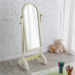 Teamson Design - Teamson Design Children's Standing Mirror - W-1376A - Shop for Mirrors from Hayneedle.com! Classic and versatile the Children's Standing Mirror will make an ideal addition to your little one's room. This wood and glass design has been hand-painted in white and gold with subtle and elegant details. It even tilts up and down to ensure a perfect view no matter what your height.About Teamson Design Corp.Teamson is a wholesale gift and furniture company based in Edgewood New York. Known for their wide selection of products Teamson has been providing for customers since 1997 and produces high quality items that are sure to delight you and your family. Trust in Teamson for all of your home decor furniture and gift-giving needs.