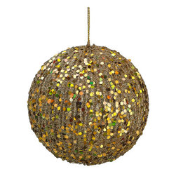 Silk Plants Direct - Glitter Ball Ornaments, Gold, Pack of 12 - Pack of 12. Silk Plants Direct specializes in manufacturing, design and supply of the most life-like, premium quality artificial plants, trees, flowers, arrangements, topiaries and containers for home, office and commercial use. Our Glitter Ball Ornament includes the following: