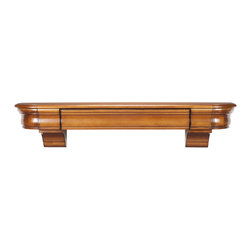 """Pearl Mantel - The Abingdon Fireplace Surround, Medium Distressed Finish, 48"""" - Time for your treasures to move to higher ground. This surround shelf offers safe haven for all the things that you hold precious."""