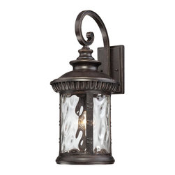 Quoizel - Quoizel CHI8411IB Chimera Transitional Wall Sconce - Chimera, a traditional outdoor collection with unique glass, will add flair to your home's exterior.  Its imperial bronze finish works well with many decors its distinctive clear water glass is sure to make a statement for years to come.