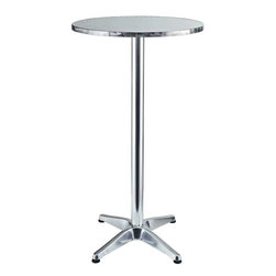 Modway - Elevate Aluminum Bar Table in Silver - Imbue your Indoor/Outdoor gatherings with an uplifting instrument of service. Invoke overflowing plenitude with a work that collects the best of your surroundings and presents it for all to see. Thrive together and extract something precious as the Elevate Modern Round Aluminum Bar Table continually exceeds expectations.