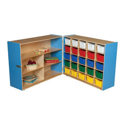 Wood Designs - Wood Designs Tray and Shelf Fold Storage with 25 Assorted Trays - WD23633B - Shop for Childrens Toy Boxes and Storage from Hayneedle.com! About WDM Inc.For 30 years Wood Designs has put passion for the enrichment and safety of children into quality wooden early learning furniture. Dennis and Debbie Gosney the couple behind this labor of love have taken their 50 years combined experience in child development furniture manufacturing and built a company at the forefront of innovation and safety. Intuitive design coupled with novel safety features like Pinch-me-not hinges and Tip resistant furniture set Wood Designs apart from the typical early learning furniture manufacturers.