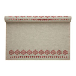 MYdrap - Holiday Printed Placemat, Natural Snowflake - - MYdrap Holiday Placemats on a Roll feature a festive printed holiday design.