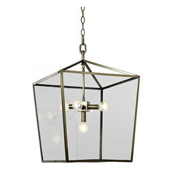 Regina Andrew - Regina Andrew Soft Brass Camden Lantern - Camden Lantern in soft brass by Regina Andrew.Needs 5 Type B bulbs.